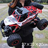 Pinjeer RC Car 1/12 4WD Rock Crawlers 4x4 Driving Car Double Motors Drive Big foot Car Remote Control Car Model Off-Road Vehicle Educational Toy for Kids Age 4+