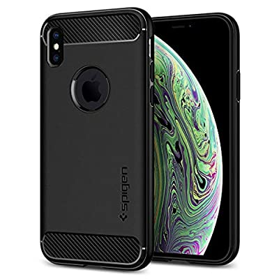 Spigen Rugged Armor iPhone X Case with Resilient Shock Absorption and Carbon Fiber Design for Apple iPhone X (2017)