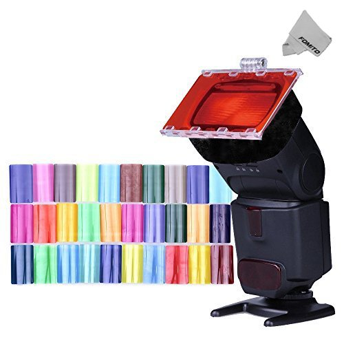 Fomito Color Gel Kit Filter 30ps w/ Gels-band - Flash Gel Nikon