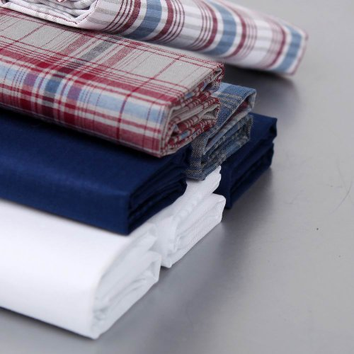 Discount Gift Idea 7 Pack Hankies Mens Cotton With Presentation Box MH1029 One Size Blue by Y&G (Image #3)