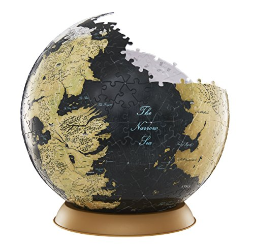 4D Cityscape Game of Thrones (GoT) 3D Westeros and Essos Globe Puzzle, 9-inch ()