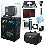 Photo : GoPro HERO5 Black Action Camera Ready For Adventure Kit includes Camera, 64GB microSD Memory Card, Card Wallet, Card Reader, Camera Case, Selfie Stick, HDMI Cable, Cleaning Kit and Beach Camera Cloth