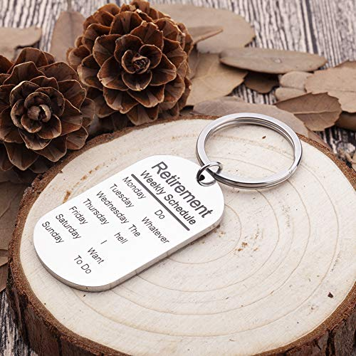 Funny Retirement Gifts Keychain for Men Women Coworker Retiree Calendar Gag  Gifts Leaving Gifts for Dad Mom Nurses Teacher Military Army USAF Navy Dog