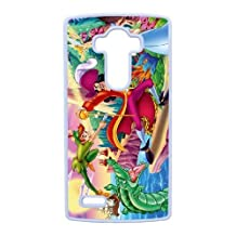 Durable Rubber Cases LG G4 Cell Phone Case White Oyyby Peter Pan Protection Cover