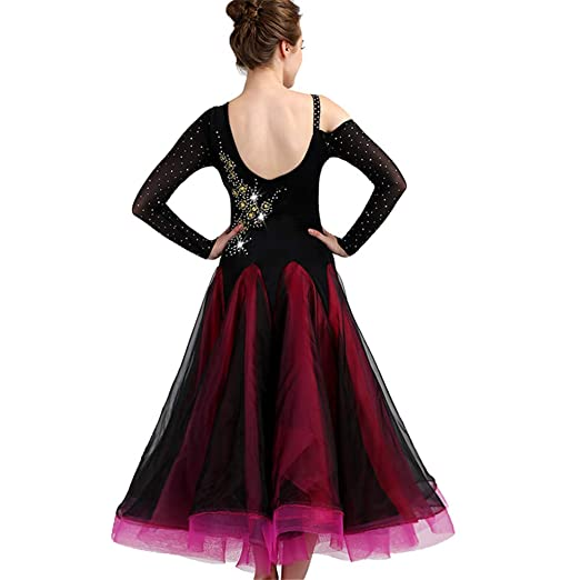 9537beaf8 Amazon.com: SIQIAN Adult/Child Embroidered International Standard Ballroom  Dance Dress Party Dance Evening Modern Dress: Clothing