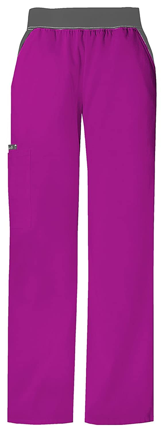 Mid-Rise Knit Waist Pull-On Pant (Pink Flamingo,Small)
