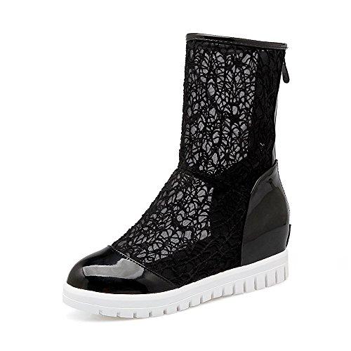 à Sandales Dentelle Chaussures épais Gaotong Black mis Femmes Taille Fond Creux Baotou Le Pied Grande vv0w4x