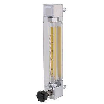 BQLZR - Medidor de flujo líquido acrílico plateado de 10,5 x 3,3