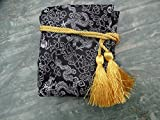 Black and Yellow Dragon and Phoenix Silk Sword Bag