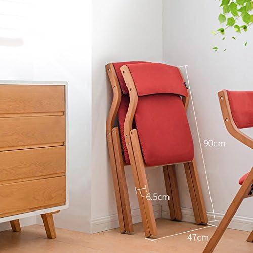 MXXYZ Chaise Pliante Chaises empilables Chaises Pliantes en Bois Massif Tables et chaises pour Le ménage Chaises Pliantes Chaises Modernes Modernes Chaises Modernes