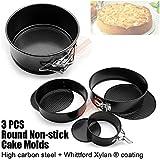 3PCS Springform Bundnt Cake Tin Baking Round Circle Pan Storage Sphere Mould Pans Set