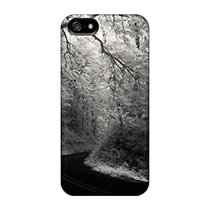 New Arrival Fabulous Road Through A Forest In Grayscale For Iphone 5/5s Case Cover