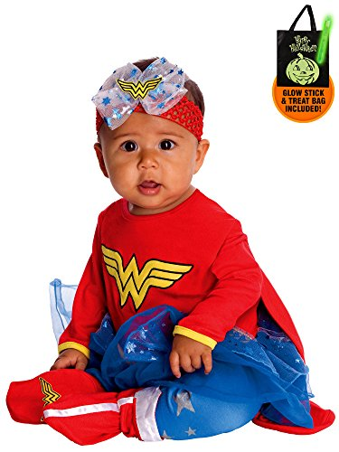 DC Comics Infant Wonder Woman Jumper Costume for Toddlers Treat Safety Kit -