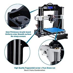 ALUNAR 3D Printer DIY Prusa I3 Kit Self Assembly Mini DIY Desktop FDM 3D Printing Machine with 1.75mm PLA Filament from Alunar Direct