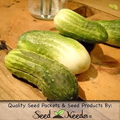 "90 Seeds, Pickling Cucumber ""Bush Pickle"" (Cucumis sativus) Seeds By Seed Needs"