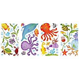 RoomMates Adventures Under The Sea Peel and Stick Wall Decals – RMK1851SCS