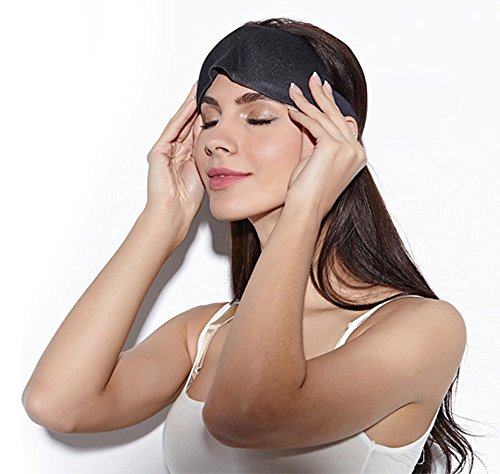 J DEAL 3D Breathable Sleep Travel Eye Mask Cover Soft & Breathable Better than Silk, Ultra Lightweight for Sleeping, Relaxation, Spa with Adjustable Strap and Ear Plugs