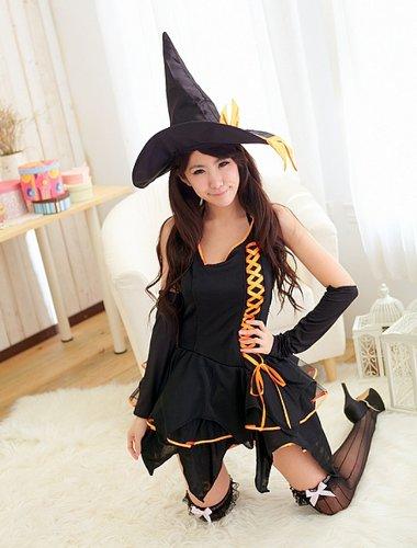 Traje de la bruja de Halloween traje de la bruja traje de ...