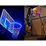 lotus.flower Light Up Basketball Hoop, Waterproof LED Basketball Hoop Light Illuminates Rim Court Fits Backboard Accessory Light for Park,Yard,School&Ourtdoor