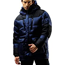 FUERZA Mens Winter Down Wellon Extremely Warm Parka Jacket - Dark Navy