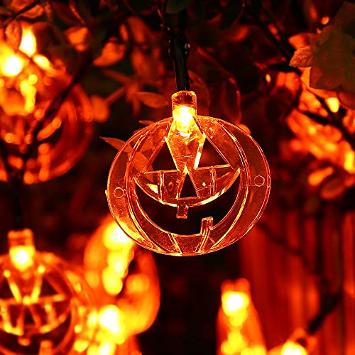 ABASK Halloween Pumpkin Lights String Lights 16 FT 40 LEDs Battery Operated Fairy Lights for Halloween, Holiday, Party Decoration for $<!--$69.99-->