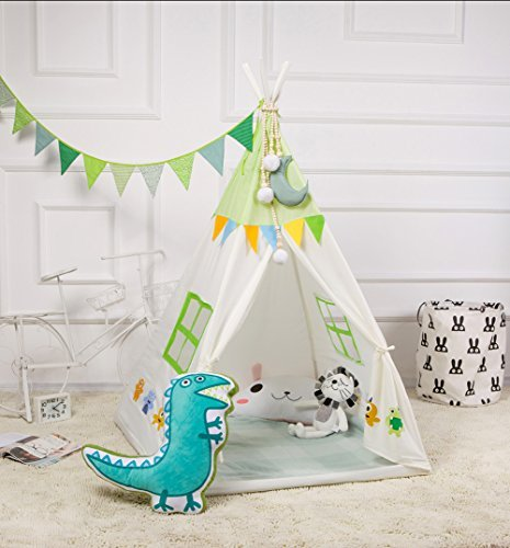 - LALIFIT Kids Teepee Children Play Tent Children's Foldable Play House Tipi Wigwam Kids Room Decor for Indoor Outdoor Use Photo Prop Pictured