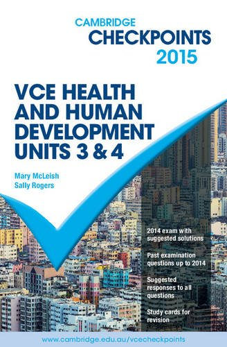 Cambridge Checkpoints VCE Health and Human Development Units 3 and 4 2015 pdf