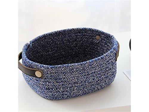 Gelaiken Lightweight Weaving Storage Box Cotton storage Basket Sundries Storage Bag(Dark Blue) by Gelaiken