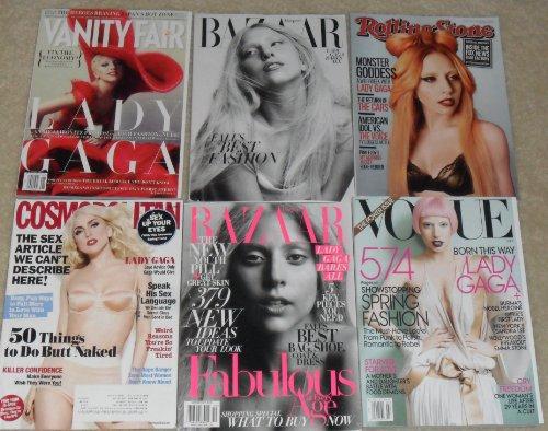 (Lady Gaga Magazines (Vogue, Vanity Fair, Cosmo, Harper's Bazaar, etc) MINT)