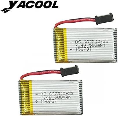 Yacool ® 2 piezas de 7.4V batería de litio de 500mAh de color JJRC ...