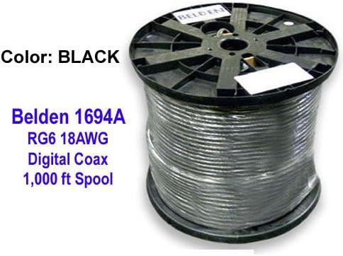 Belden 1694 a HD SDI/18 AWG RG6 Cable Coaxial Digital de la serie, Azul