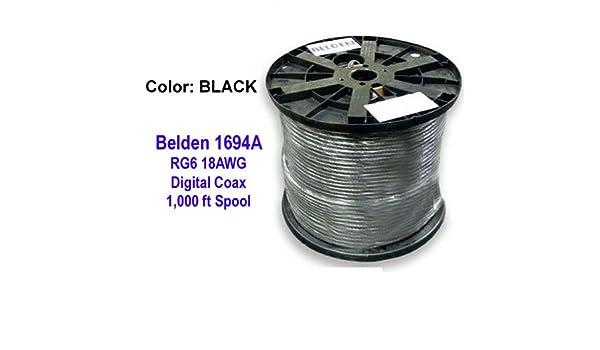 Belden 1694 a HD SDI/18 AWG RG6 Cable Coaxial Digital de la serie, Azul: Amazon.es: Electrónica