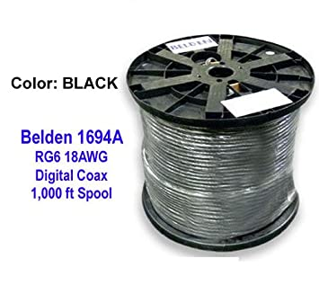 Belden 1694 a HD SDI/18 AWG RG6 Cable Coaxial Digital de
