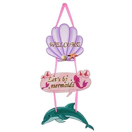 Amazon Com Mermaid Welcome Sign Mermaid Birthday Party Supplies
