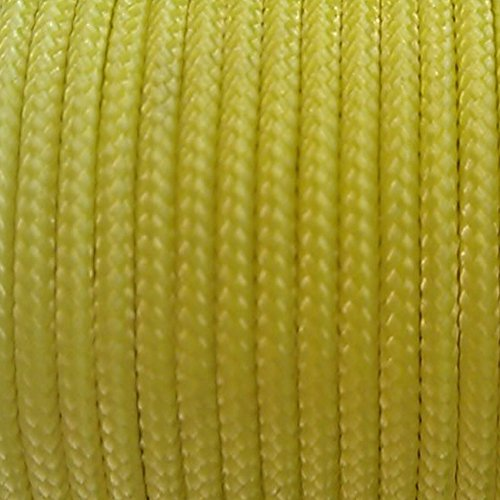 Yellow Sleeved Spectra Survival Kevlar Paracord 1000ft 32...