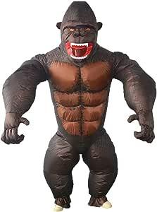 D DOLITY Hinchable Disfraz Gorila Fantasía Traje Disfraz para ...