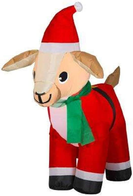 Home Accents Inflatable Goat in Santa Suit (4 ft.)
