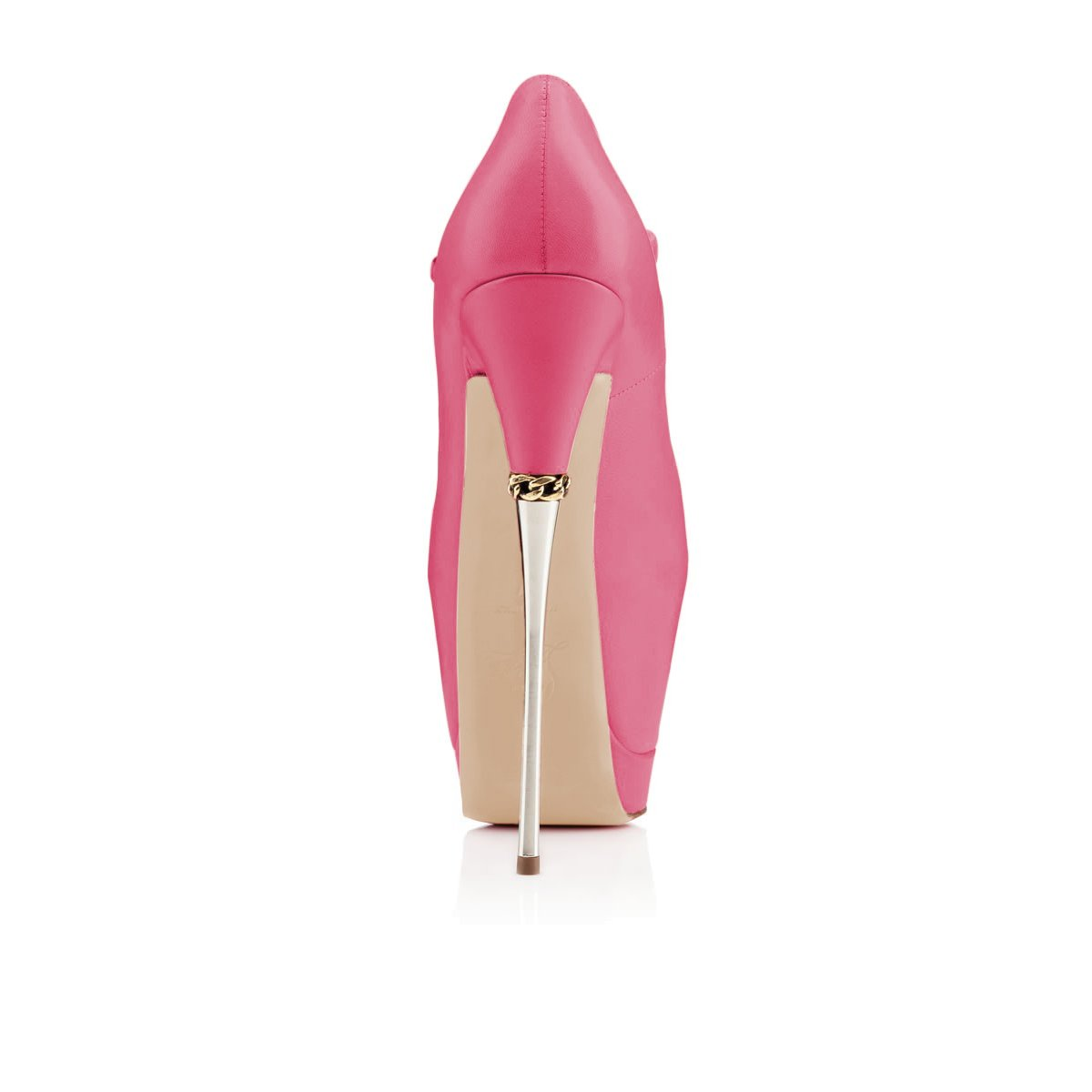 YDN Women Peep Toe Sky High Heels Platform Pumps Ankle Straps Shoes Metal Stilettos B07F1R7JV8 8 M US Rossy-pu