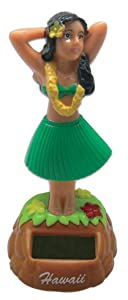 KC Hawaii Hula Dashboard Doll Posing Solar