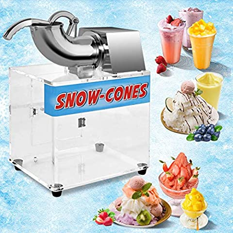 Costzon Ice Shaver, Stainless Steel Electric Crusher, Snow Cone Machine w/Dual Blades, Safety On/Off Switch for Family, School, Church, Kids Camp, Restaurants, Bars Or Commercial Use, 440lbs/H