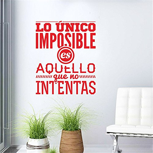 Wall Sticker Mural Decal Quote Spanish Inspirational Art Mural for Living Room Home Decor House Decoration ()
