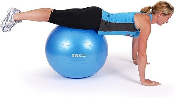 migliora Equilibrio Fitness Pilates /Yoga ResultSport Anti-Scoppio Palla per Esercizi con Dvd /Taglie 55//65//75/cm/ alleviare Il Mal di Schiena AB//Core Training Fisioterapia Poster e Pompa/