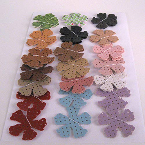 36 Vinyl Die Cut Flowers assorted colors from Suzanne Medrano