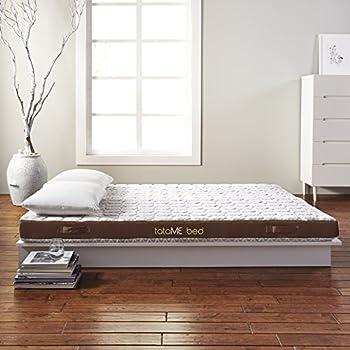 Rio Home Fashions MFM-SY01-6Q tataME Bed Memory Foam Mattress Bed & Topper, Queen, White