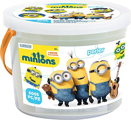 Perler Beads 80-42922 Minions Perler 6000 Bead Activity Bucket, Yellow