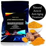 Facial Mask With Turmeric - Natural Turmeric Antiaging Acne Face Mask Treatment by PURE SKIN | Healthy and Youthful Skin in Just 3 Days, 4oz