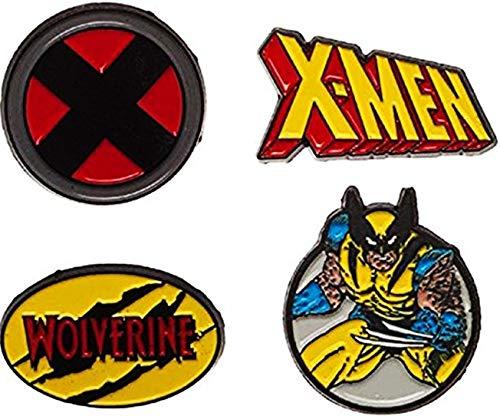 X-Men Theme SET OF 4 Metal/Enamel Lapel Pins