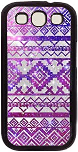 Galaxy Space Aztec Tribal Pattern Theme Case for Samsung Galaxy S3 I9300 PC Material Black by runtopwell