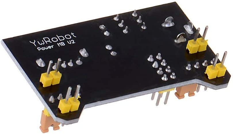 HiLetgo 5pcs 3.3V 5V Power Supply Module for MB102 102 Prototype Breadboard DC 6.5-12V or USB Power Supply Module
