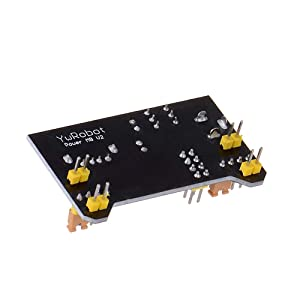 HiLetgo 5pcs 3.3V 5V Power Supply Module for MB102 102 Prototype Breadboard DC 6.5-12V or USB Power Supply Module (Color: Black, Tamaño: Small)
